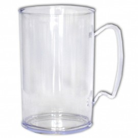 10 Canecas 300 ml Acrílico Transparente