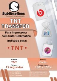 10 Transfers TNT Branco Sublimação
