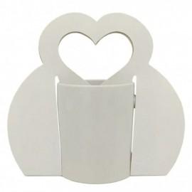 10 Bolsas para Canecas com Alça Coração Sublimável