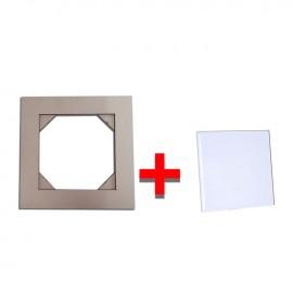 01 Kit Suporte de Panela Decorativa Mais Azulejo 20x20 Cm