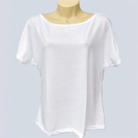 1 Camiseta Morcego Branca Poliéster Sublimação