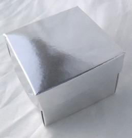 10 Caixinhas Papel Metalizado 6x6x4cm Sublimação