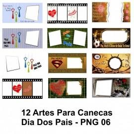12 Artes Para Canecas Dia Dos Pais - PNG 06