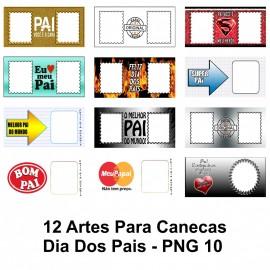 12 Artes Para Canecas Dia Dos Pais - PNG 10