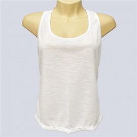 1 Camiseta Branca Feminina Regata Nadador Sublimaç