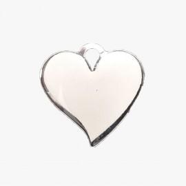 5 Chaveiros Metal Coração Com Reserva Sublimação