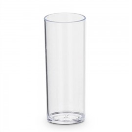 10 Copos Acrílicos Transparentes Long Drink 250ml
