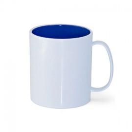 01 Caneca de Plastico Interior Azul Royal Sublimável
