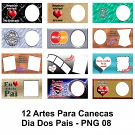 12 Artes Para Canecas Dia Dos Pais - PNG 08