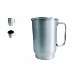 05  Canecas Chopp Alumínio  600 ml