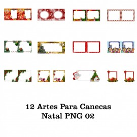 12 Artes Para Caneca Natal - PNG 02