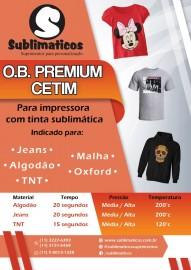 10 Folhas OBM Premium CETIM Transfer Algodão Color