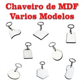 10 Chaveiros De MDF Para Sublimação