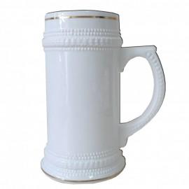 1 Caneca Chopp Ceramica Branca Sublimação