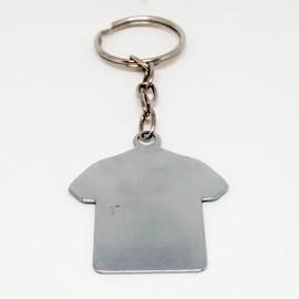 5 Chaveiros Metal Formato Camiseta para  Sublimaçã