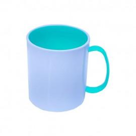 01 Caneca de Plastico Interior e Alça Azul BB Sublimável