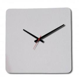 01 Relógio PET Fosco Branco Quadrado 19x19 Cm