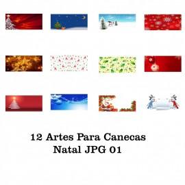12 Artes Para Caneca Natal - JPG 01