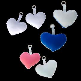 5 chaveiros almofadinha Coração Sublimação