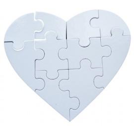 10 Quebra Cabeças Coração Sublimação