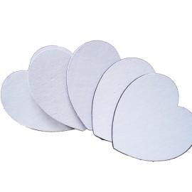 10 Mouse Pads EVA Coração 19x19cm Sublimação