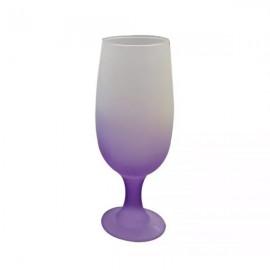 01 Taça Floripa Jateada Degrade Violeta de Vidro 300 ml