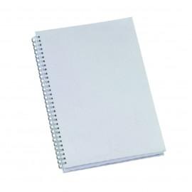 5 Cadernos 96 fls - com Capa Branca para Sublimação