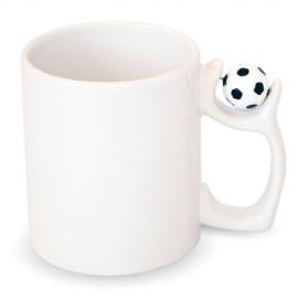 3 Canecas Cerâmica Branca Futebol