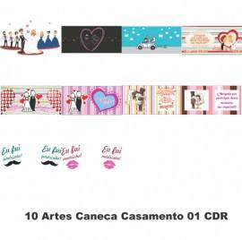 10 Artes Caneca Casamento 01 CDR