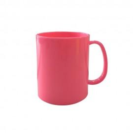 01 Caneca de Polímero Rosa Chiclete Para Sublimação