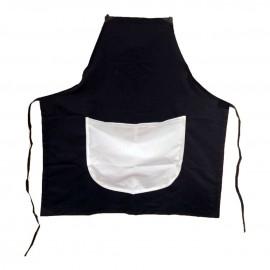 Avental Preto com Bolso Branco