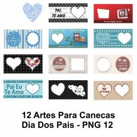 12 Artes Para Canecas Dia Dos Pais - PNG 12