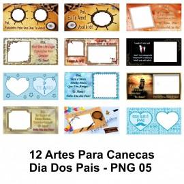 12 Artes Para Canecas Dia Dos Pais - PNG 05