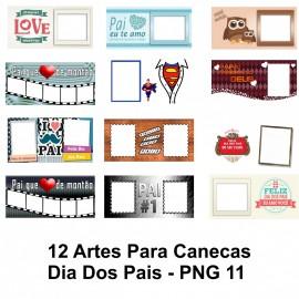 12 Artes Para Canecas Dia Dos Pais - PNG 11
