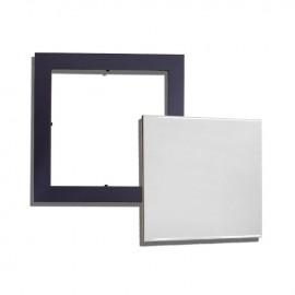 01 Kit Quadro Moldura  Preta com Azulejo 20x20 cm