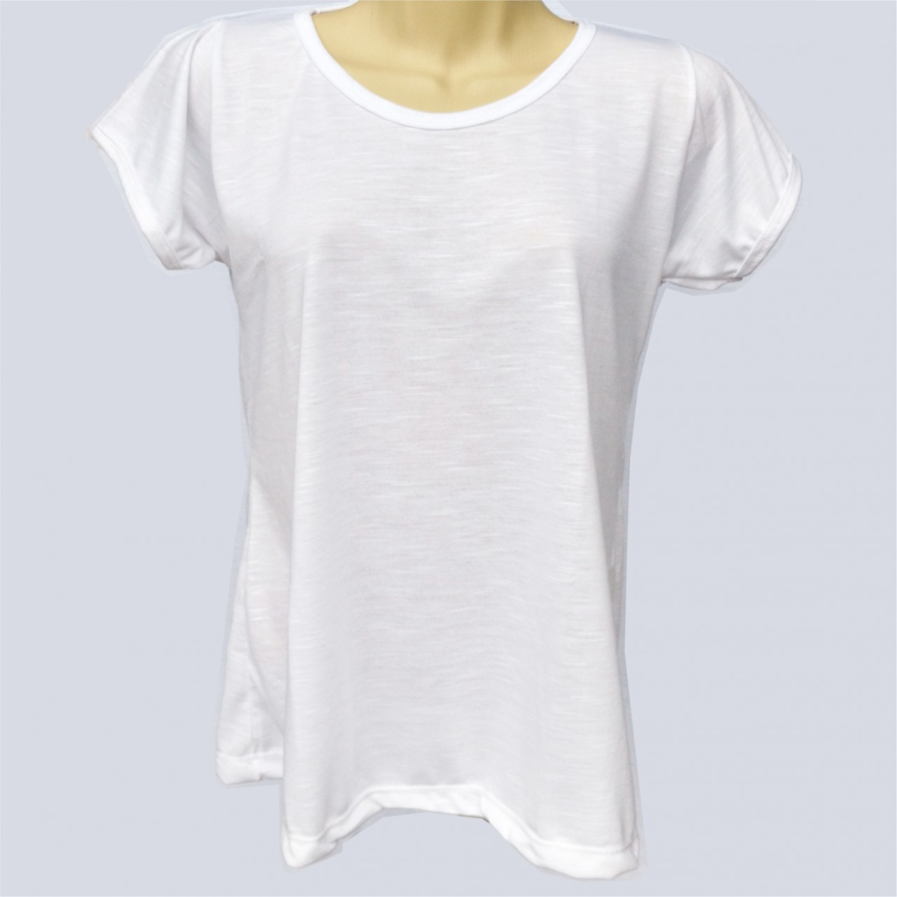 1d56851ee3 1 Camiseta tipo Batinha Branca Poliéster Sublimação - Sublimaticos