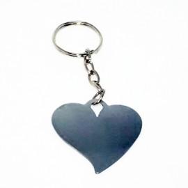 5 Chaveiros Metal Formato Coração para  Sublimação