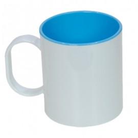 10 Canecas de Plastico interior Azul Claro