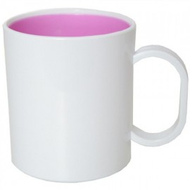 10 Canecas de Plastico interior rosa
