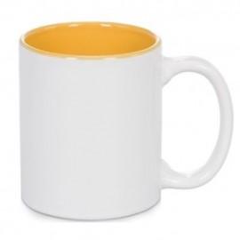 01 Caneca com o interior amarelo