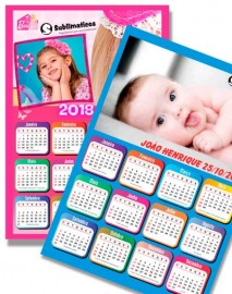 20 Folhas Papel Cartão para Calendário Sublimação