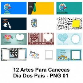 12 Artes Para Canecas Dia Dos Pais - PNG 01