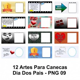 12 Artes Para Canecas Dia Dos Pais - PNG 09