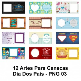 12 Artes Para Canecas Dia Dos Pais - PNG 03